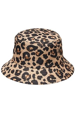 Loeffler Randall Hats - Ivy Leopard-Print Nylon Bucket Hat