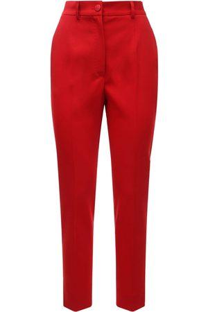 Dolce & Gabbana Women Formal Trousers - High Waist Stretch Wool Blend Crop Pants