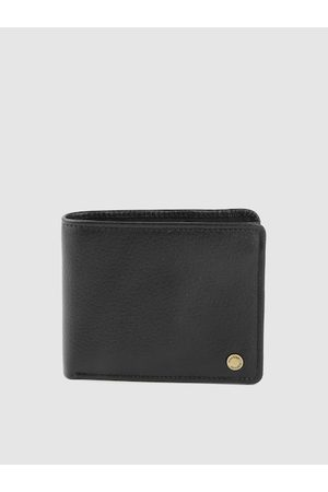 Hidesign Men Black Leather Solid Two Fold Wallet