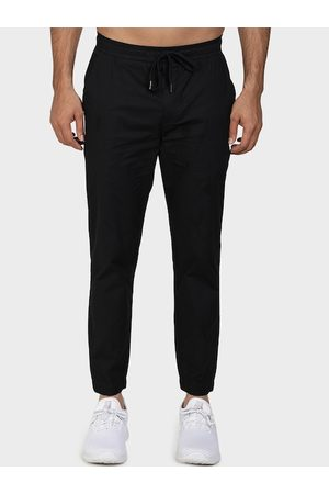 Red Tape Men Black Solid Joggers