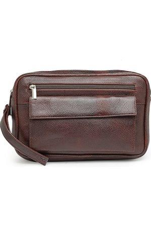 Teakwood Leathers Men Coffee Brown Solid Messenger Bag