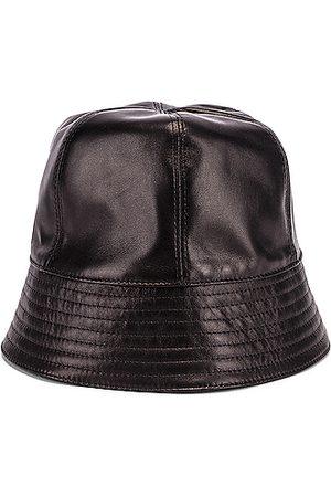 Loewe Leather Bucket Hat in