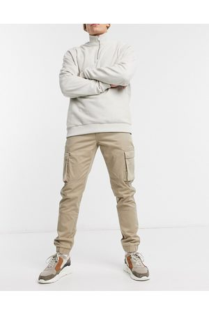 Only & Sons Cuffed cargo trousers in slim fit