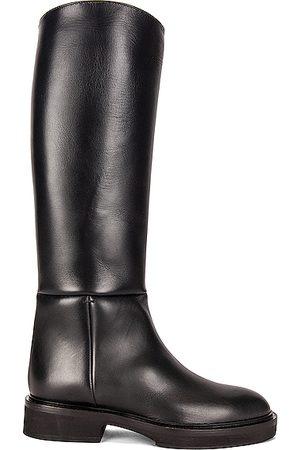 Khaite Women High Leg Boots - Derby Knee High Riding Boots in