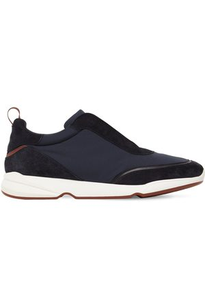 Loro Piana Modular Walk Suede Wind Sneakers