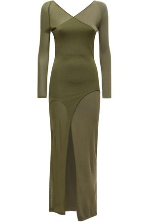 DION LEE Shadow Inverse Viscose Blend Knit Dress