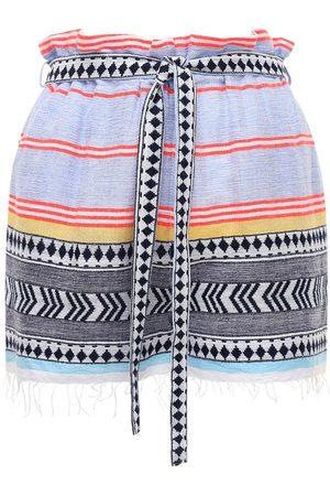 Lemlem Neela Tie Belt Cotton Blend Shorts