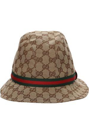 Gucci Gg Supreme Logo Blend Cotton Bucket Hat