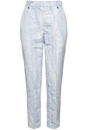 Rochas Moirè Jacquard Slim Crop Pants