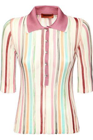 Missoni Striped Viscose & Cotton Knit Polo