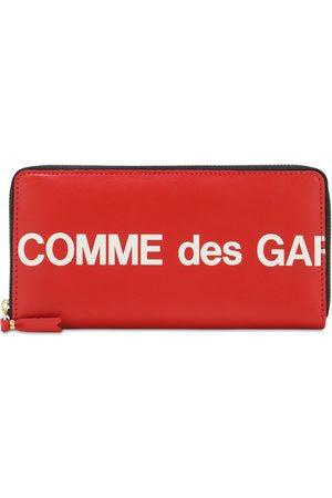Comme des Garçons Logo Print Leather Zip-around Wallet