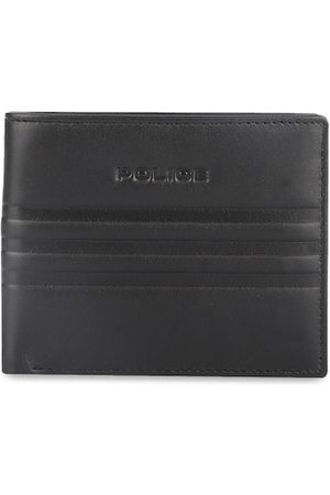 Police Men Black Solid Two Fold Genuine Leather Wallet