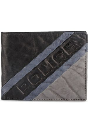 Police Men Brown & Grey Solid Two Fold Genuine Leather Wallet