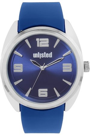 UNLISTED A KENNETH COLE PRODUCTION Men Blue & Silver-Toned Analogue Watch 10032066