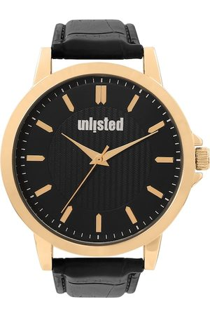 UNLISTED A KENNETH COLE PRODUCTION Men Black Leather Analogue Watch 10032041