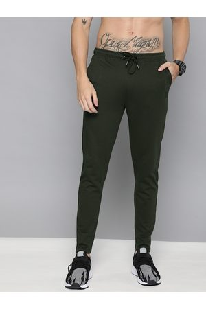 HARVARD Men Olive Green Straight Fit Solid Track pants