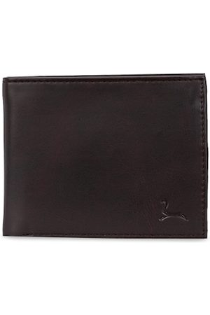 Pacific Men Coffee Brown Solid Two Fold Wallet