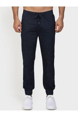 Red Tape Men Navy Blue Slim Fit Solid Joggers