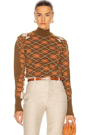 Chloé Turtleneck Long Sleeve Sweater in Cedar