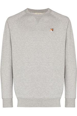 Maison Kitsuné Men Sweatshirts - Embroidered fox head sweatshirt