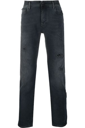 OFF-WHITE Men Bootcut & Flares - Ripped detail bootcut jeans