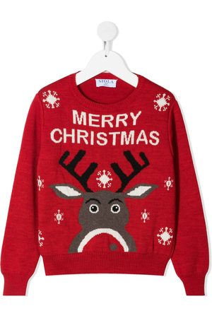 SIOLA Christmas-motif intarsia-knit jumper