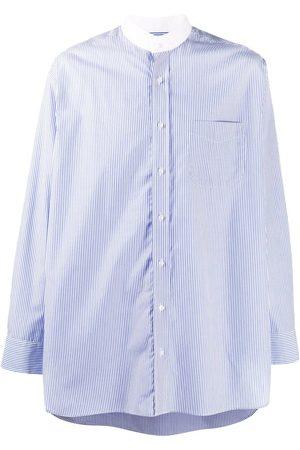 MACKINTOSH Mandarin-collar striped shirt