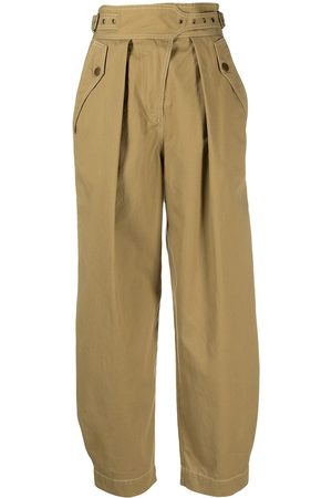 ULLA JOHNSON Cropped balloon-leg trousers