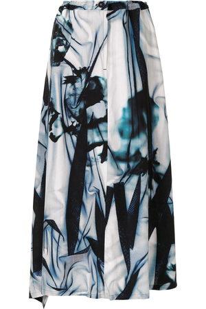 Y'S Printed midi skirt