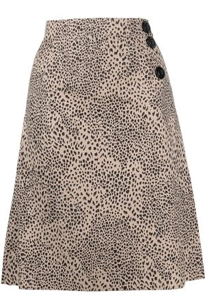 Yves Saint Laurent Leopard-print skirt