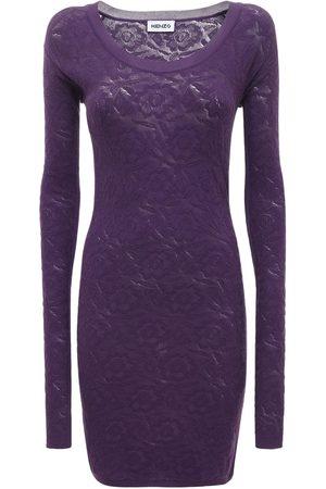 Kenzo Bodycon Stretch Cotton Blend Lace Dress