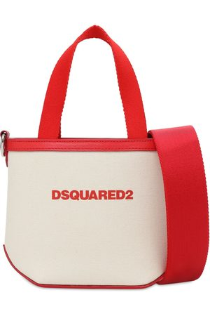 Dsquared2 Extra Small Canvas & Leather Bag