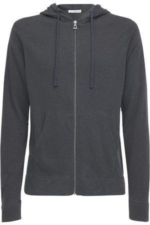 James Perse Classic Cotton Zip Sweatshirt Hoodie
