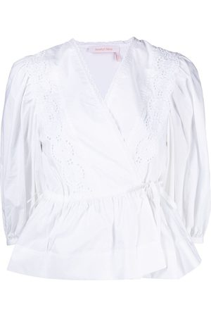 See by Chloé Broderie anglaise wrap blouse