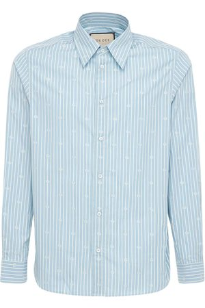 Gucci Gg Stripe Fil Coupé Cotton Shirt