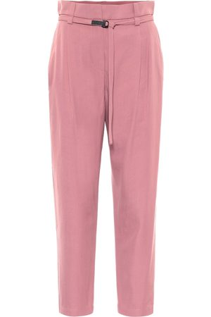 Brunello Cucinelli Wool and cotton cropped pants
