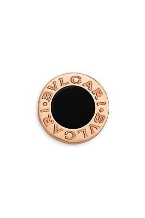 Bvlgari Earrings - Classic 18K Rose & Onyx Single Round Stud Earring