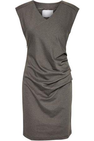 Kaffe India V Neck Sleeveless Dress - Dark Grey Melange