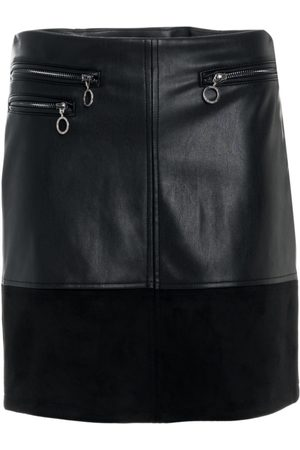 Salsa Women Mini Skirts - Faux Leather Mini Skirt With Zips
