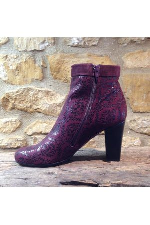 Chie Mihara Abby Snow Grape burgundy Boot