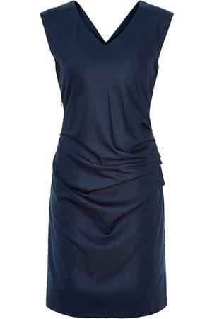 Kaffe India V Neck Sleeveless Dress - Midnight Marine
