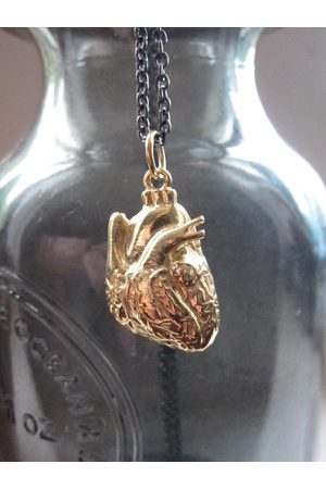 Collard Manson Wdts 925 Anatomical Heart Necklace Gold Plated