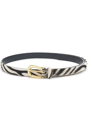 Anderson's Women Hair Accessories - ANDERSONS Zebra Pony Hair Skinny Belt -Zebra