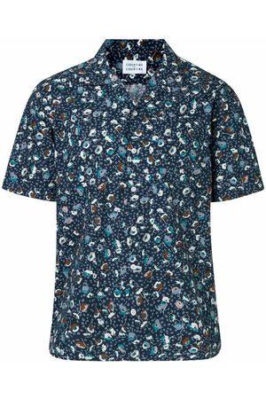 Libertine Libertine Cave SS Dark Navy w. Flowers Shirt