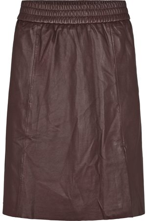 Second Female Melvin Leather Skirt - Port Royale