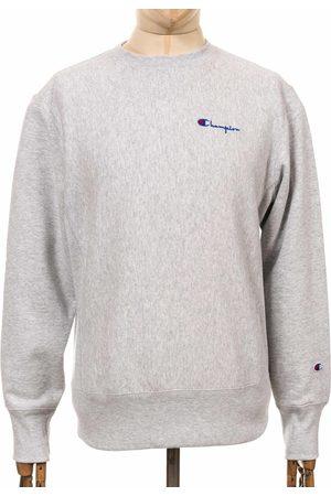 Champion Reverse Weave Script Logo Sweatshirt - LOXGM Light Grey Colo