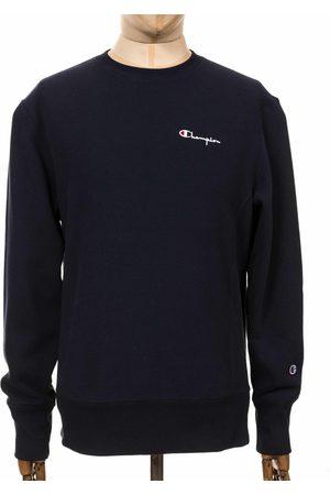 Champion Men Sweatshirts - Reverse Weave Script Logo Sweatshirt - NNY Navy Colour: NNY N