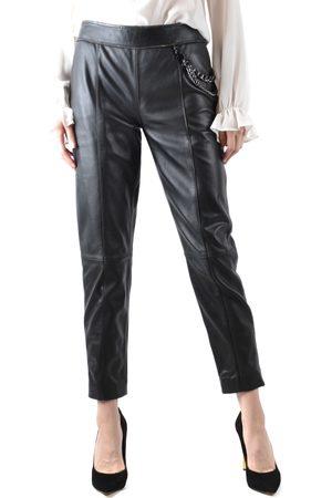 Moschino Leather Trousers in