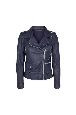 MDK / Munderingskompagniet Seattle Leather Jacket - Blue Night
