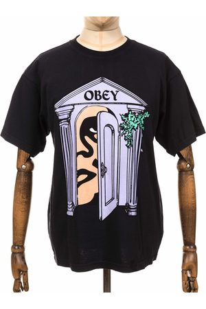 Obey Men T-shirts - Clothing Mausoleum Heavyweight Classic Box Tee - Off Colour